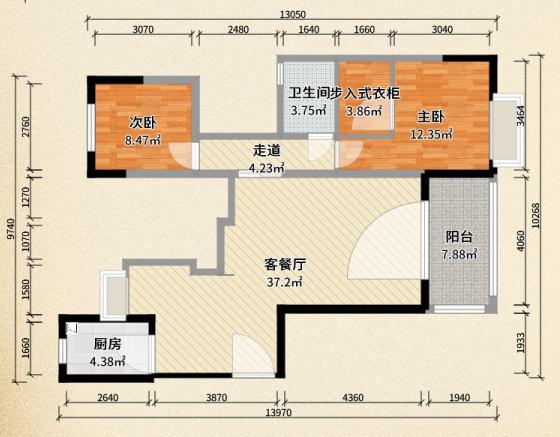 康扉骊系列BKK款单开门/麦芽黄色